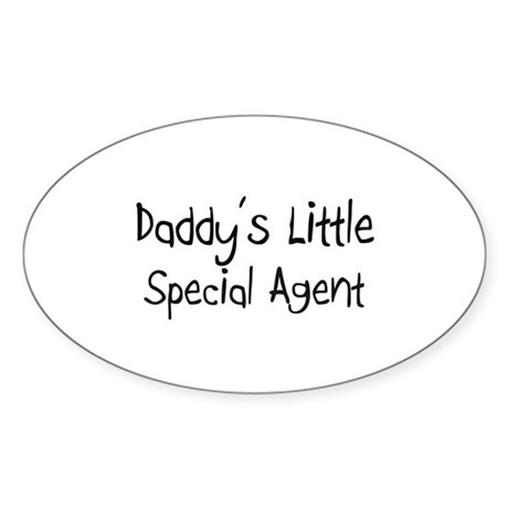 Daddy's Little Special Agent Oval Sticker