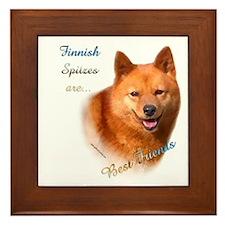 Spitz Best Friend1 Framed Tile
