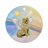 Golden retriever angel Ornaments