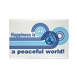 Happiness World Peace Rectangle Magnet