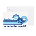 Happiness World Peace Greeting Card