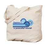 Happiness World Peace Tote Bag