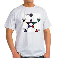 Elements Pentagram Ash Grey T-Shirt