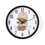 Beary Cute (Girl) Wall Clock