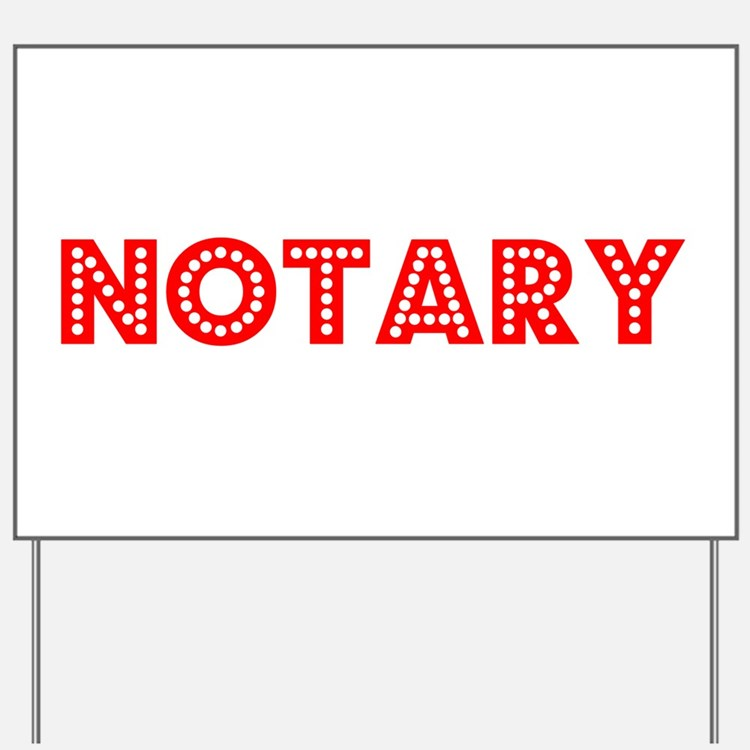 Retro Notary (Red) Yard Sign