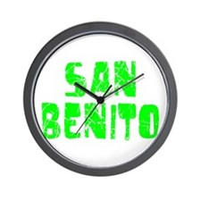 San Benito Faded (Green) Wall Clock