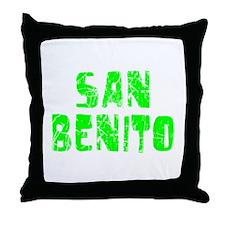 San Benito Faded (Green) Throw Pillow