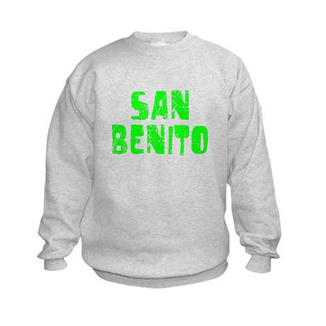 San Benito Faded (Green) Kids Sweatshirt