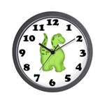 Green Dino Wall Clock