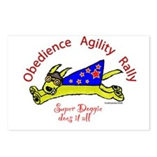 Obedience, Agility, Rally Super Doggie Postcards (