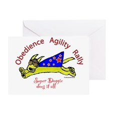 Obedience, Agility, Rally Super Doggie Greeting Ca