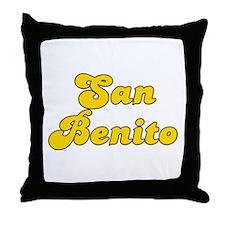 Retro San Benito (Gold) Throw Pillow