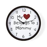 Mommy's Heart Wall Clock