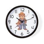 Fishing Bears Wall Clock