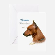 Pinscher Best Friend1 Greeting Card