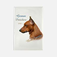 Pinscher Best Friend1 Rectangle Magnet (100 pack)