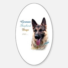 GSD Best Friend1 Oval Decal