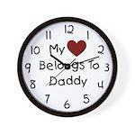 Daddy's Heart Wall Clock