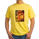 Mandolin Angel /Italian Spino Yellow T-Shirt