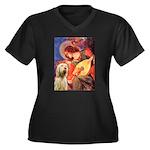 Mandolin Angel /Italian Spino Women's Plus Size V-
