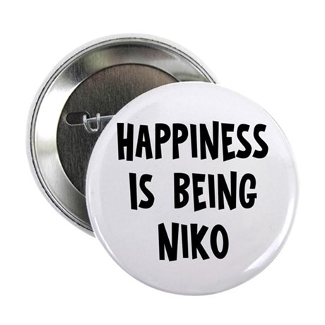 "Happiness is being Niko 2.25"" Button"