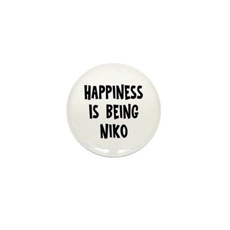 Happiness is being Niko Mini Button
