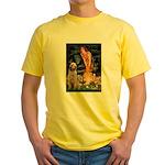 Fairies/ Italian Spinone Yellow T-Shirt