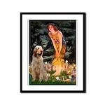 Fairies/ Italian Spinone Framed Panel Print