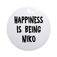 Happiness is being Niko Ornament (Round)