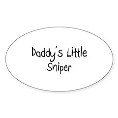 Daddy's Little Sniper Oval Decal