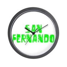 San Fernando Faded (Green) Wall Clock