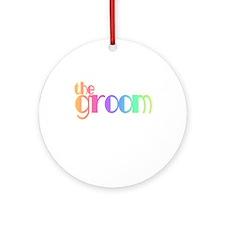 Cool Colors The Groom Keepsake (Round)