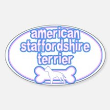Powderpuff AmStaff Oval Decal