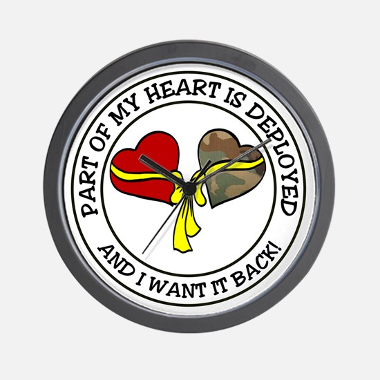 Part of my Heart is Deployed - Military Wall Clock