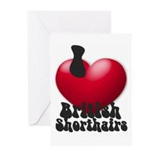 """""""I Love BSHs"""" Greeting Cards (Pk of 10)"""