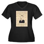 Sam Ketchum Women's Plus Size V-Neck Dark T-Shirt