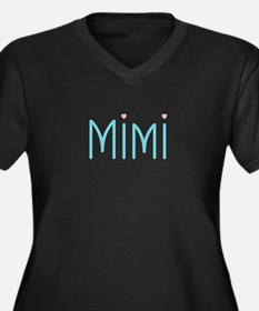 Mimi Women's Plus Size V-Neck Dark T-Shirt