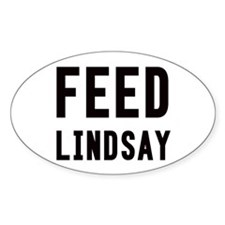 Feed Lindsay Oval Bumper Stickers
