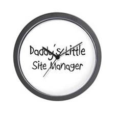Daddy's Little Site Manager Wall Clock