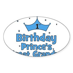1st Birthday Prince's Great G Oval Decal