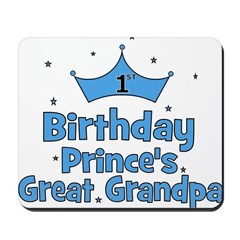 1st Birthday Prince's Great G Mousepad