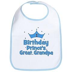 1st Birthday Prince's Great G Bib