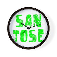 San Jose Faded (Green) Wall Clock