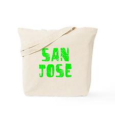 San Jose Faded (Green) Tote Bag