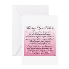 TEARS ON YOUR PILLOW Greeting Card