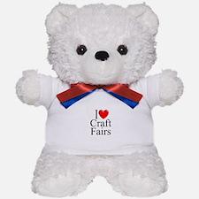 """""""I Love (Heart) Craft Fairs"""" Teddy Bear"""