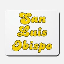 Retro San Luis Obi.. (Gold) Mousepad