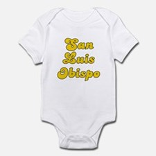 Retro San Luis Obi.. (Gold) Infant Bodysuit