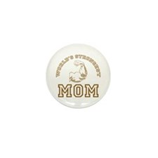 World's Strongest Mom Mini Button (100 pack)