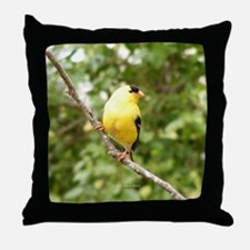 Left American Goldfinch Throw Pillow